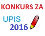 RASPORED POLAGANJA PRIJEMNOG ISPITA U PRVOM KONKURSNOM ROKU 2016/17