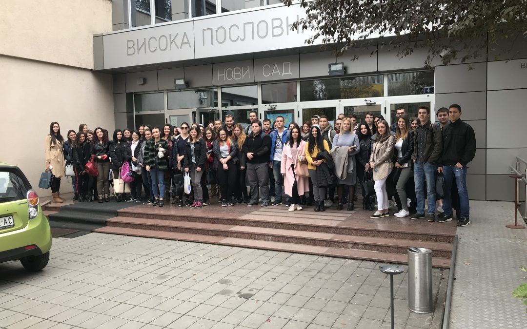 Poseta studenata naše škole Međunarodnom sajmu knjiga u Beogradu 26.10.2018.